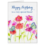 Happy Birthday Special Friend Card Butterflies