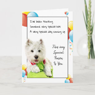 Happy Birthday Special Friend With A Westie Card