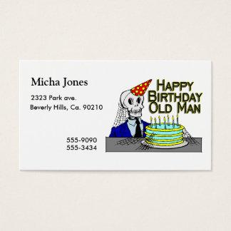 Happy Birthday Spider Web Old Man Business Card