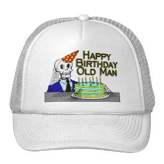 Happy Birthday Spider Web Old Man Trucker Hat