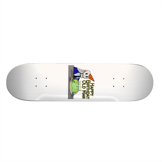 Happy Birthday Spider Web Old Man Skateboard Deck
