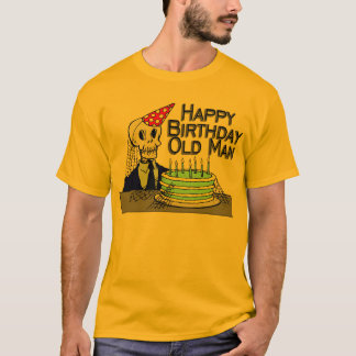 Happy Birthday Spider Web Old Man T-Shirt