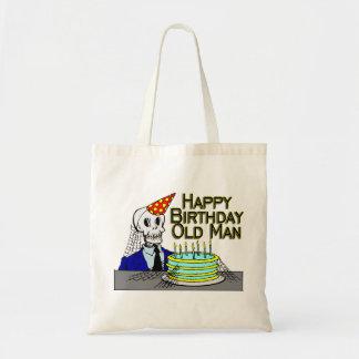 Happy Birthday Spider Web Old Man Tote Bag