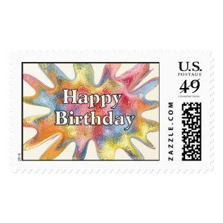 Happy Birthday Splat Postage