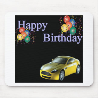 Happy Birthday Sports car design Mouse Pad