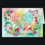 """Happy Birthday Spring Flowers 
