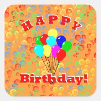 Happy Birthday! Square Sticker