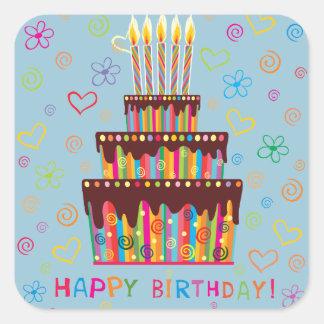 Happy Birthday Square Sticker