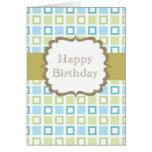Happy Birthday (squares) Card