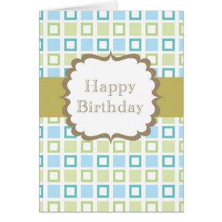 Happy Birthday (squares) Greeting Card