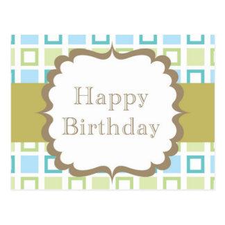 Happy Birthday (squares) Postcard