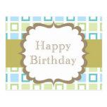 Happy Birthday (squares) Postcards