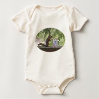 Happy Birthday Squirrel Baby Bodysuit
