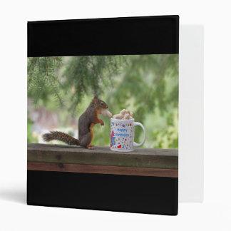 Happy Birthday Squirrel Vinyl Binders
