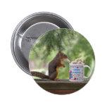 Happy Birthday Squirrel Button