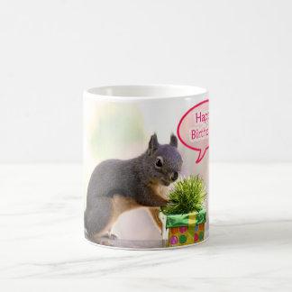 Happy Birthday Squirrel Classic White Coffee Mug
