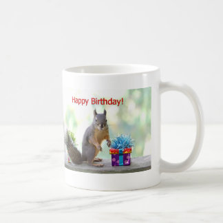 Happy Birthday Squirrel Coffee Mug