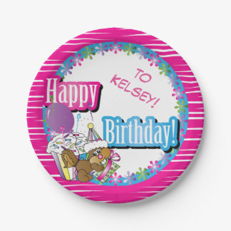 Happy Birthday Squirrel | DIY Background Color Paper Plate