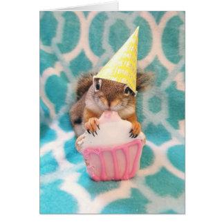 Happy Birthday, squirrel friend. Card