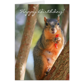 Happy Birthday squirrel greeting card