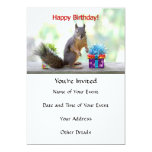 Happy Birthday Squirrel Invites