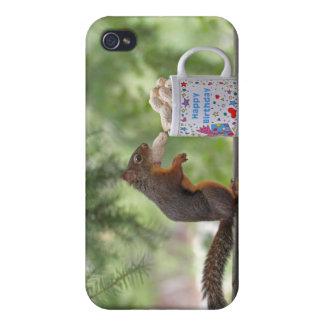 Happy Birthday Squirrel iPhone 4 Cases