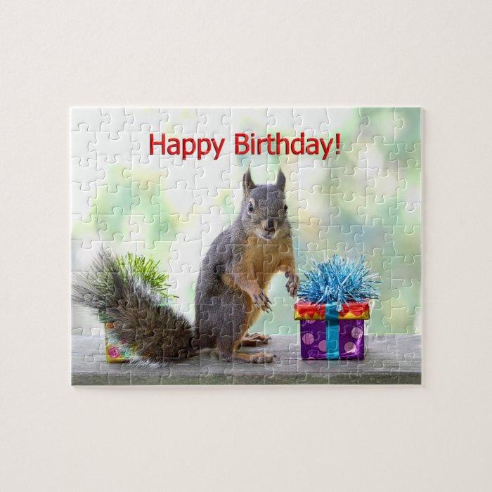 Happy Birthday Squirrel Jigsaw Puzzle