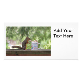 Happy Birthday Squirrel Photo Cards