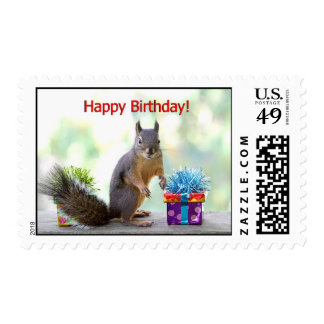 Happy Birthday Squirrel Postage