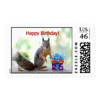 Happy Birthday Squirrel Postage