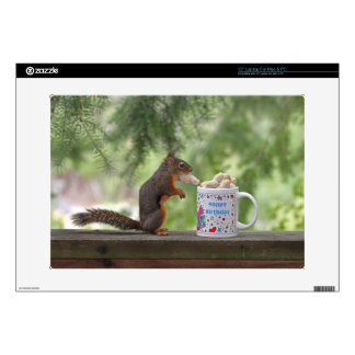 Happy Birthday Squirrel Skins For Laptops