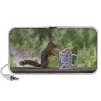 Happy Birthday Squirrel Travelling Speakers