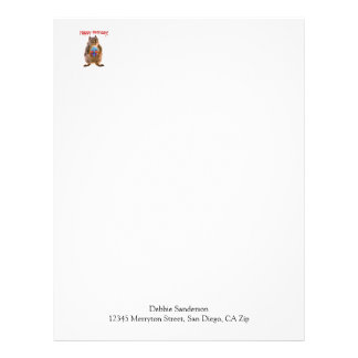 Happy Birthday Squirrel with Present Letterhead