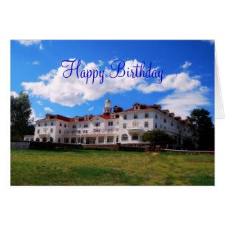 Happy Birthday, Stanley Hotel, Colorado Card
