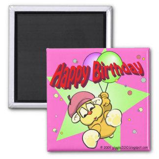 Happy Birthday Star 2 Inch Square Magnet