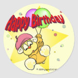 Happy Birthday Star Classic Round Sticker