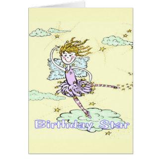 Happy Birthday Star Fairy Greeting Card