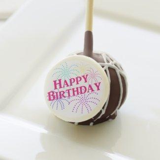 Happy Birthday Star Fireworks Cake Pops