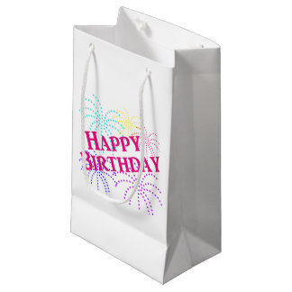 Happy Birthday Star Fireworks Gift Bag Small Gift Bag