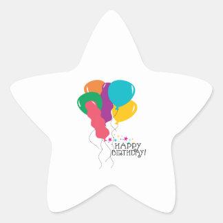 Happy Birthday! Star Sticker