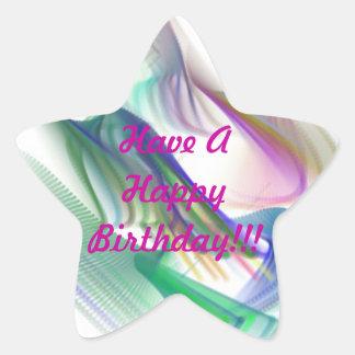 Happy Birthday!!! Star Sticker