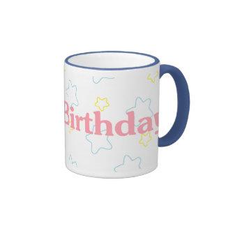 Happy Birthday Stars Coffee Mug