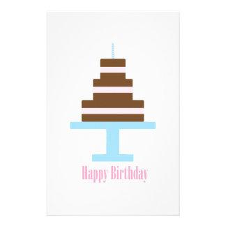 Happy Birthday Personalized Stationery
