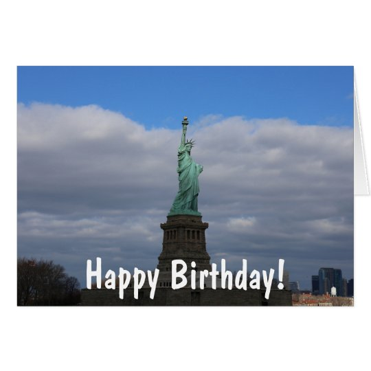 Happy Birthday Statue of Liberty NYC Card – New York Birthday Card