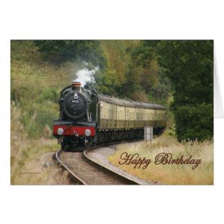 Happy Birthday Steam Locomotive Card