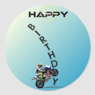 HAPPY BIRTHDAY. CLASSIC ROUND STICKER