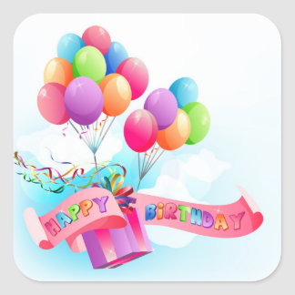 Happy birthday sticker