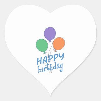 HAPPY BIRTHDAY HEART STICKERS