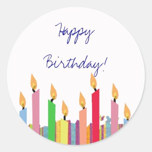 Happy Birthday - Sticker Stickers