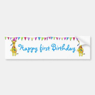 Happy birthday sticker car bumper sticker